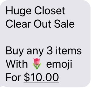 Buy any 3 items with 🌷emoji for $10.00